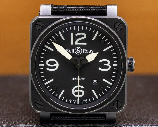 Bell & Ross BR 03-92-S BR 03-92 Black Dial SS PVD