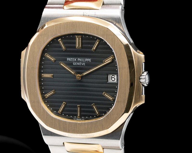 Patek Philippe 3700/1 Nautilus Jumbo SS / 18k Yellow Gold