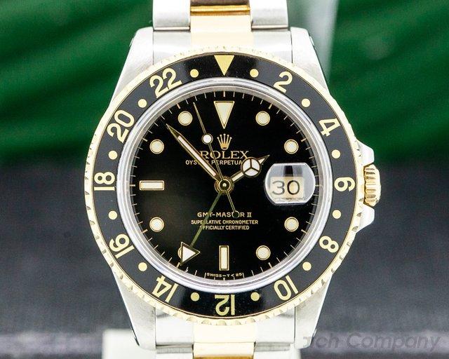 Rolex 16713T GMT Master II 18K / SS Black Dial