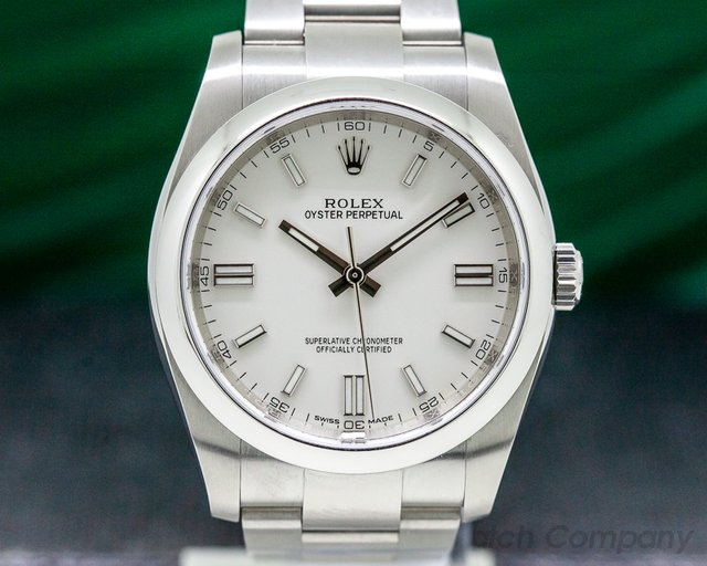 Rolex 116000 Oyster Perpetual SS White Dial
