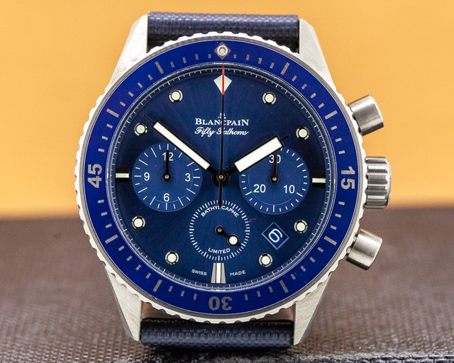 Blancpain 5200-0240-B52A Fifty Fathoms Bathyscaphe Chronograph Ocean Commitment II