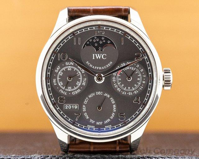 IWC IW502307 Portuguese Perpetual II Grey Dial 18K White Gold
