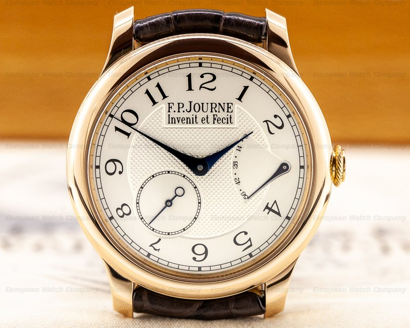 F. P. Journe Chronometre Souverain Red Gold / Silver Dial 40MM