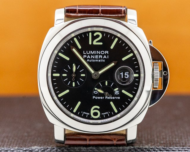 Panerai PAM00090 Luminor Power Reserve Black Dial 44MM SS