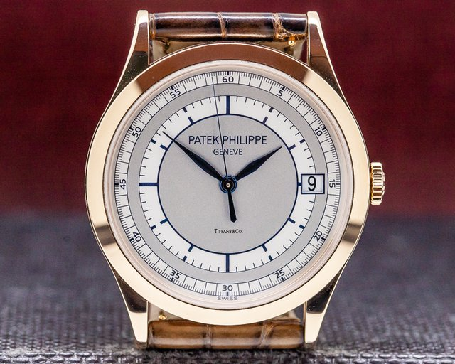 Patek Philippe 5296R-001 Calatrava 18K Rose Gold Sector Dial TIFFANY & CO