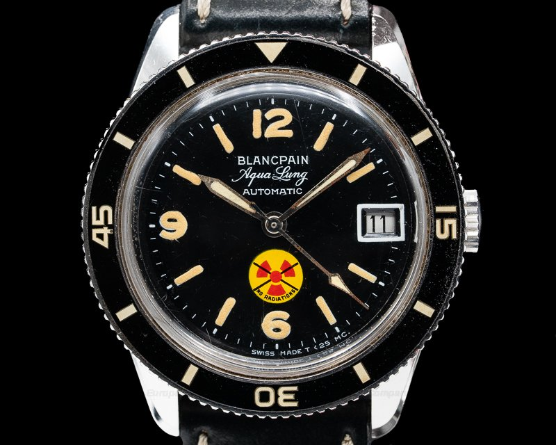 Blancpain Fifty Fathoms Aqualung N Vintage Fifty Fathoms Aqualung NO RADIATION Circa 1966 36MM