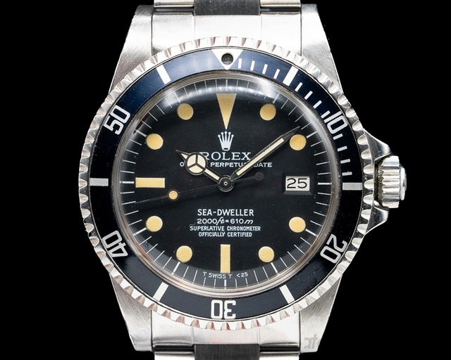 "Rolex 1665 Rail Dial  Vintage Sea Dweller ""Rail Dial"" Circa 1979 UNPOLISHED"