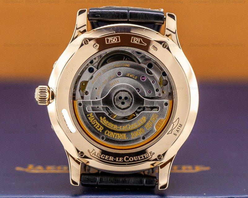 Jaeger LeCoultre 140.2.98.S Master Moon 18K Rose Gold / Black Dial