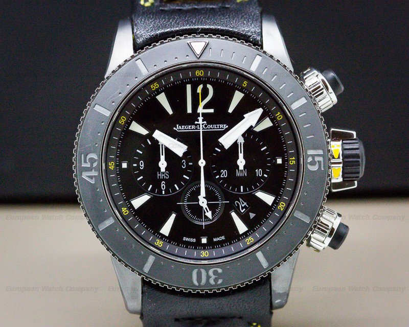 Jaeger LeCoultre Q178T471 Master Compressor Diving Chronograph GMT Navy Seals / Calfskin