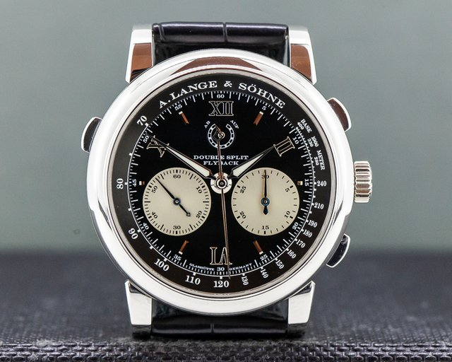 A. Lange and Sohne 404.035 Datograph Double Split Black Dial Platinum