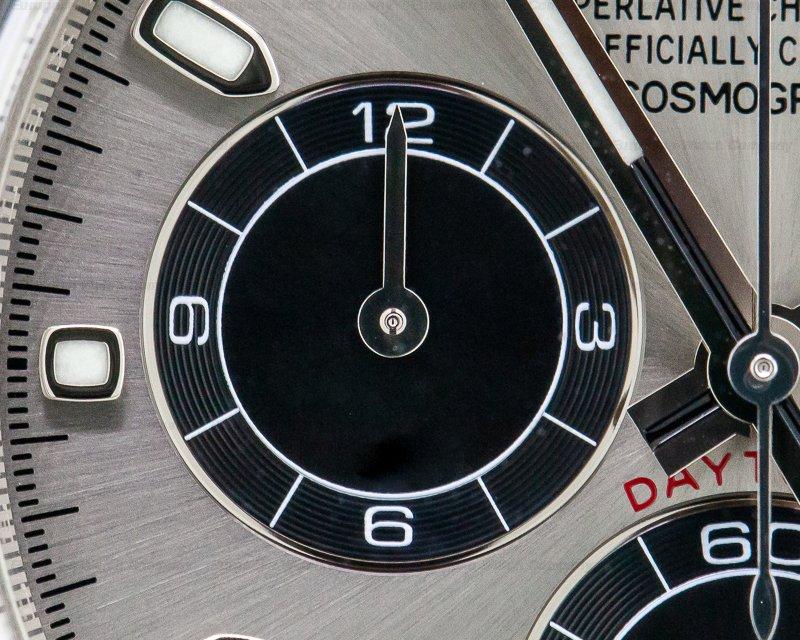 Rolex 116519LN Daytona 18K White Gold Ceramic Oysterflex Silver Dial
