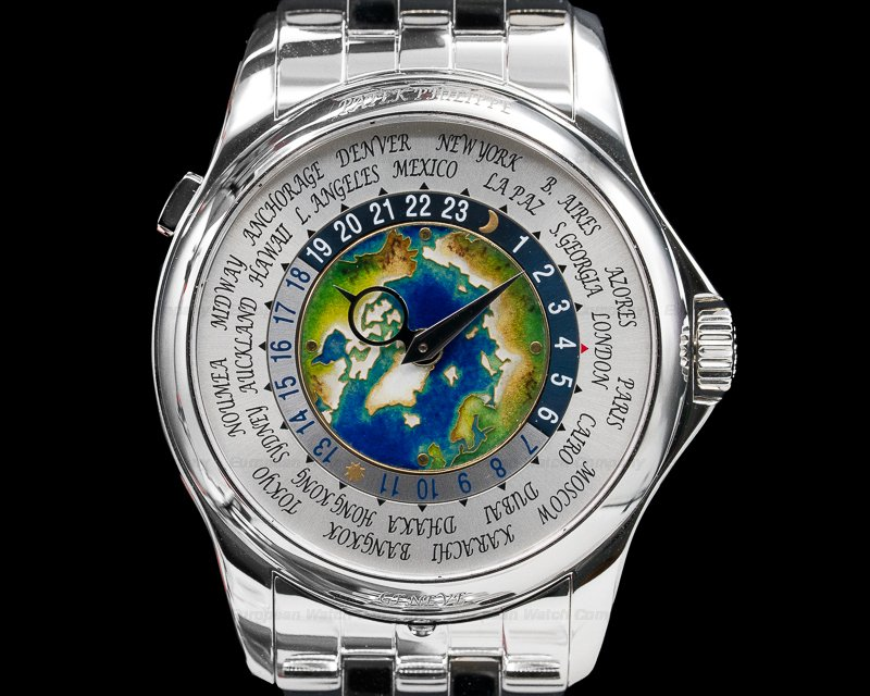 (30630) Patek Philippe 5131/1P-001 World Time 5131P Enamel Dial PLATINUM