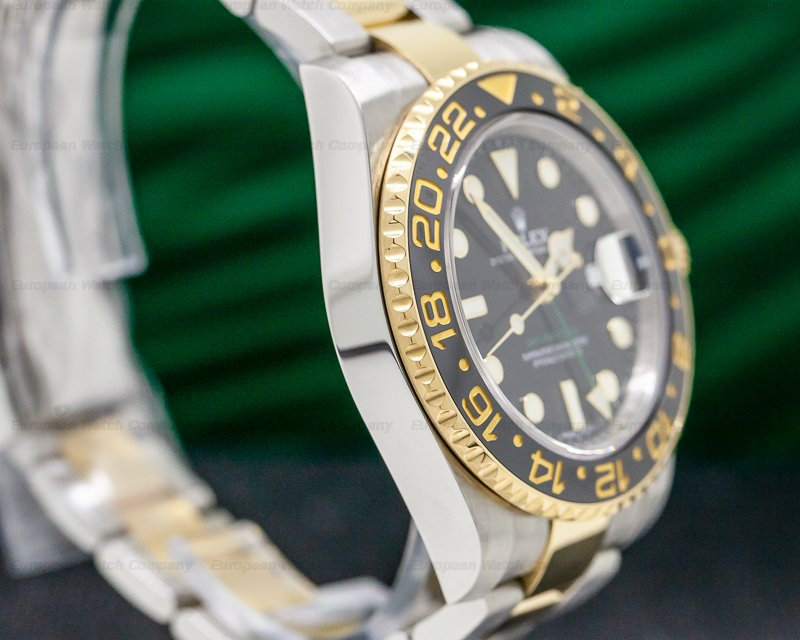Rolex 116713LN GMT Master II SS / 18K Yellow Gold Black Dial
