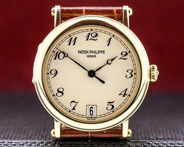 Patek Philippe 5053J-001 Calatrava Officers Case 18K Yellow Gold