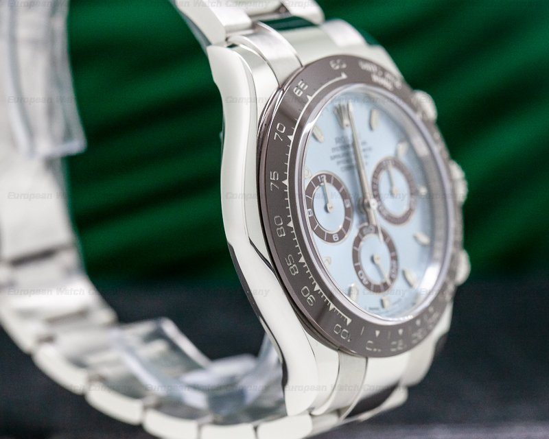 Rolex 116506 Daytona Platinum Glacier Blue / Brown Ceramic