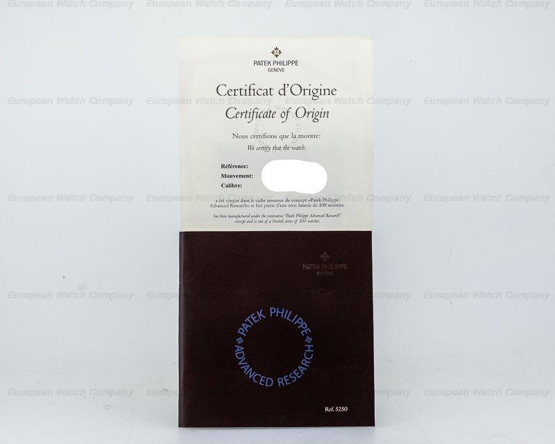 Patek Philippe 5250G-001 Advanced Research Annual Calendar 18K White Gold LIMITED