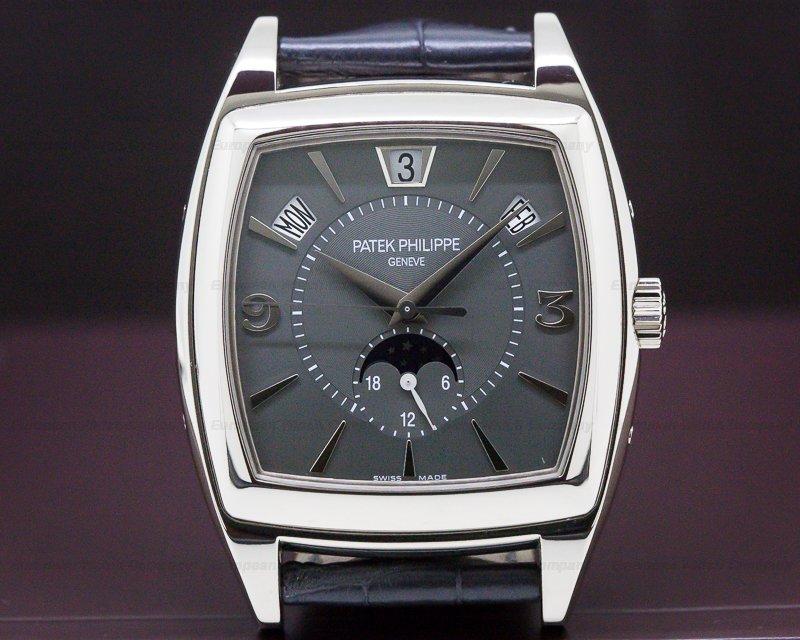 Patek Philippe 5135G-010 Gondolo Calendario 18K White Gold Grey Dial