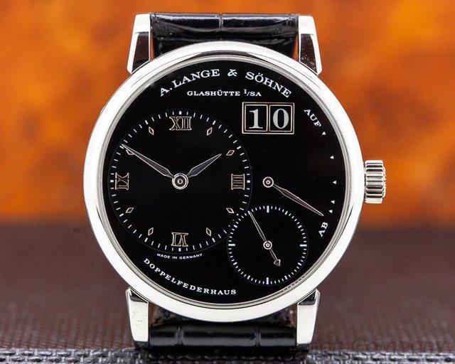 """A. Lange and Sohne 111.035 """"Kleine"""" Little Lange 1 Platinum Black Dial 36MM RARE"""