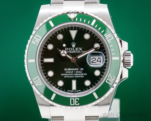 Rolex 116610LV Submariner Green Ceramic Bezel Green Dial SS UNWORN STICKERS