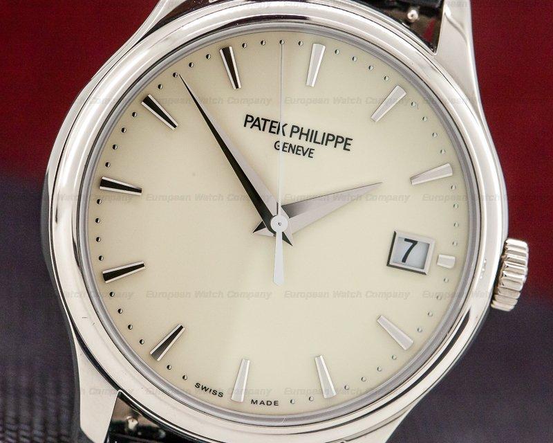 Patek Philippe 5227G-001 Calatrava Automatic Ivory Dial 18K White Gold