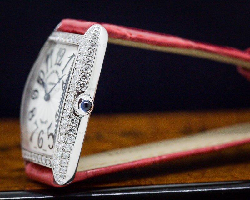 "Franck Muller 1752 QZ Cintree Curvex WG Quartz ""Sunset"" Diamonds"