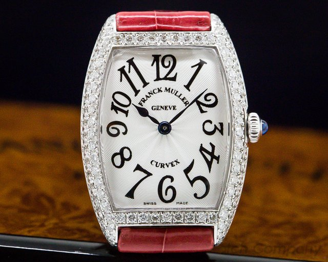 "Franck Muller 1752 QZ Cintree Curvex WG Quartz ""Sunset"" Diamonds"
