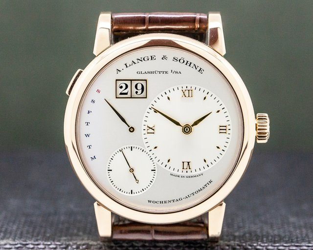 A. Lange and Sohne 320.032 Lange 1 Daymatic 18K Rose Gold