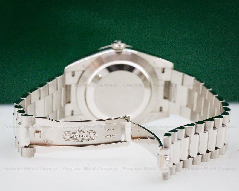 Rolex 228206 Day Date Platinum Blue Dial Roman Numeral 40MM