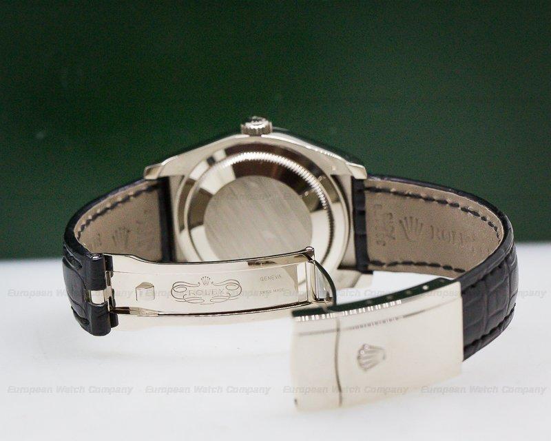 Rolex 116139 Datejust White Gold Roman Dial / Alligator Strap