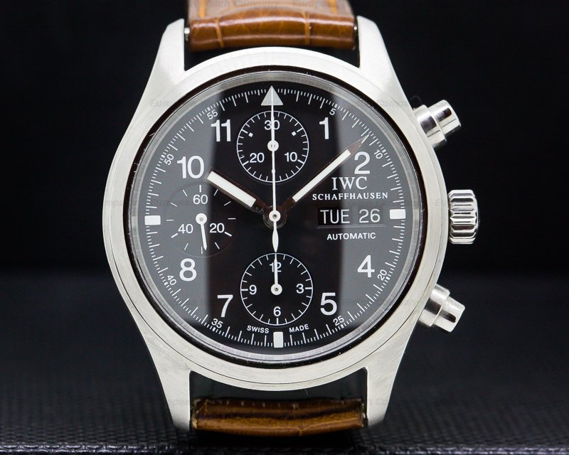 IWC IW370603 Pilot Chronograph SS Black Dial