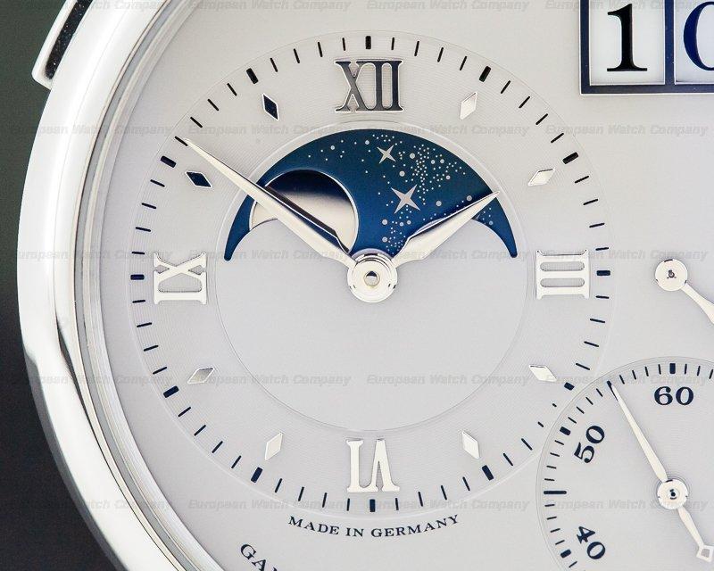 A. Lange and Sohne 139.025 Grande Lange 1 Moon Platinum