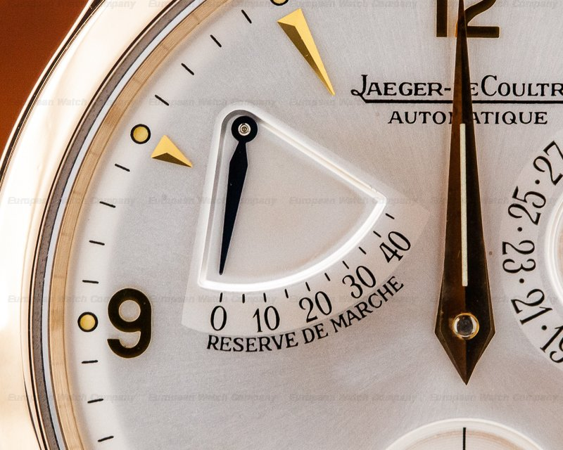 Jaeger LeCoultre 1482401 Master Reserve de Marche 18K Rose Gold / Silver Dial