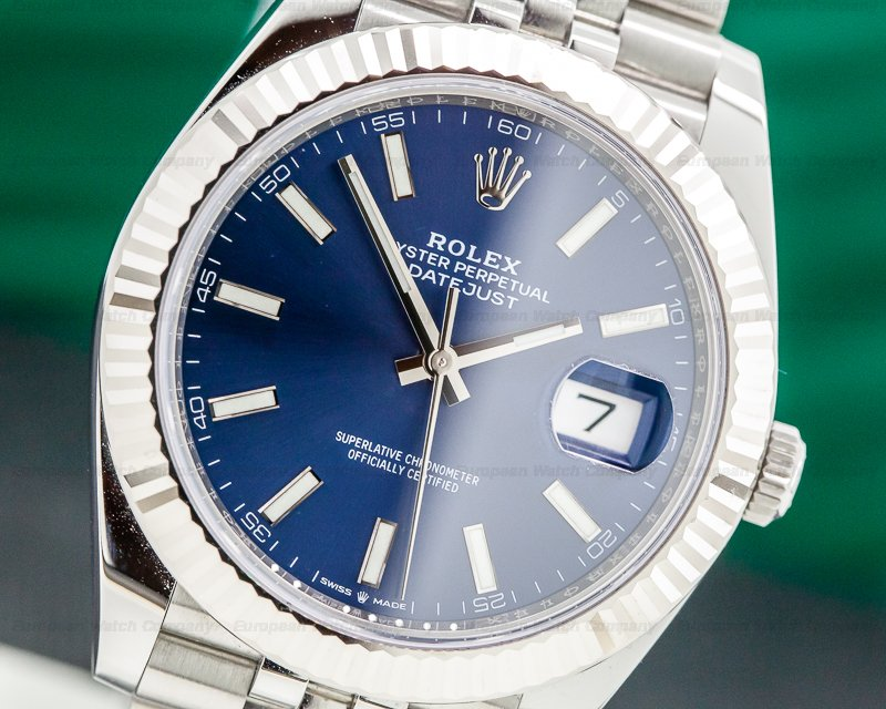 Rolex 126334 Datejust 41 Blue Stick Dial SS UNWORN