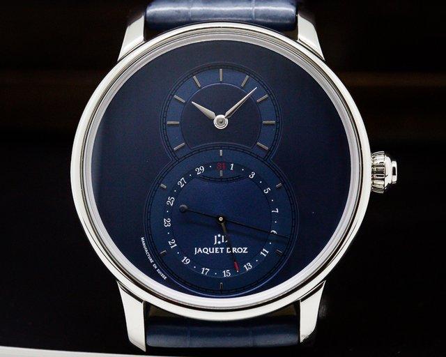 Jaquet Droz J007030245 Legend Geneva Grande Seconde Quantieme SS Blue Dial