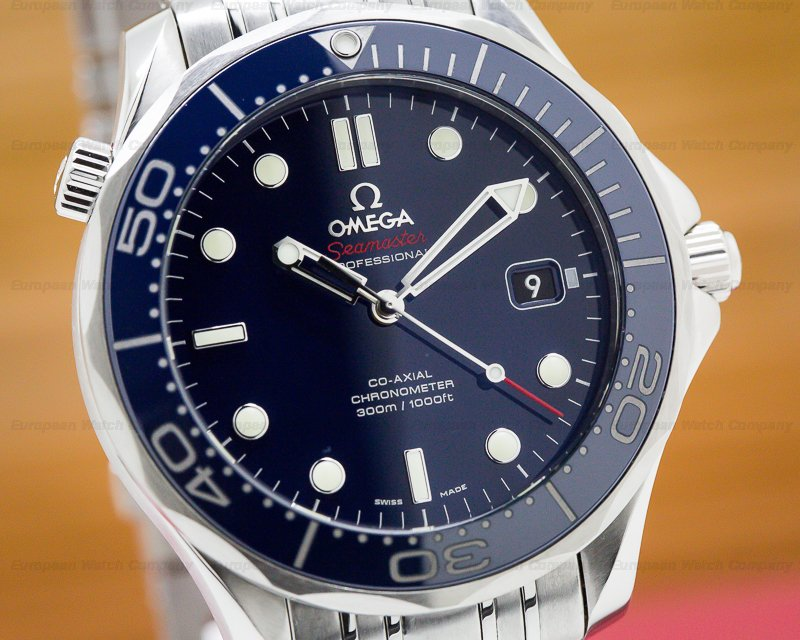 Omega 212.30.41.20.01.002 Seamaster Professional Blue Dial Co-Axial SS / SS