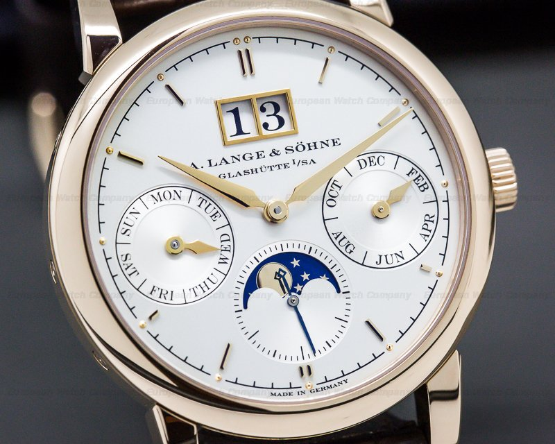 A. Lange and Sohne 330.032 Saxonia Annual Calendar 18K Rose Gold