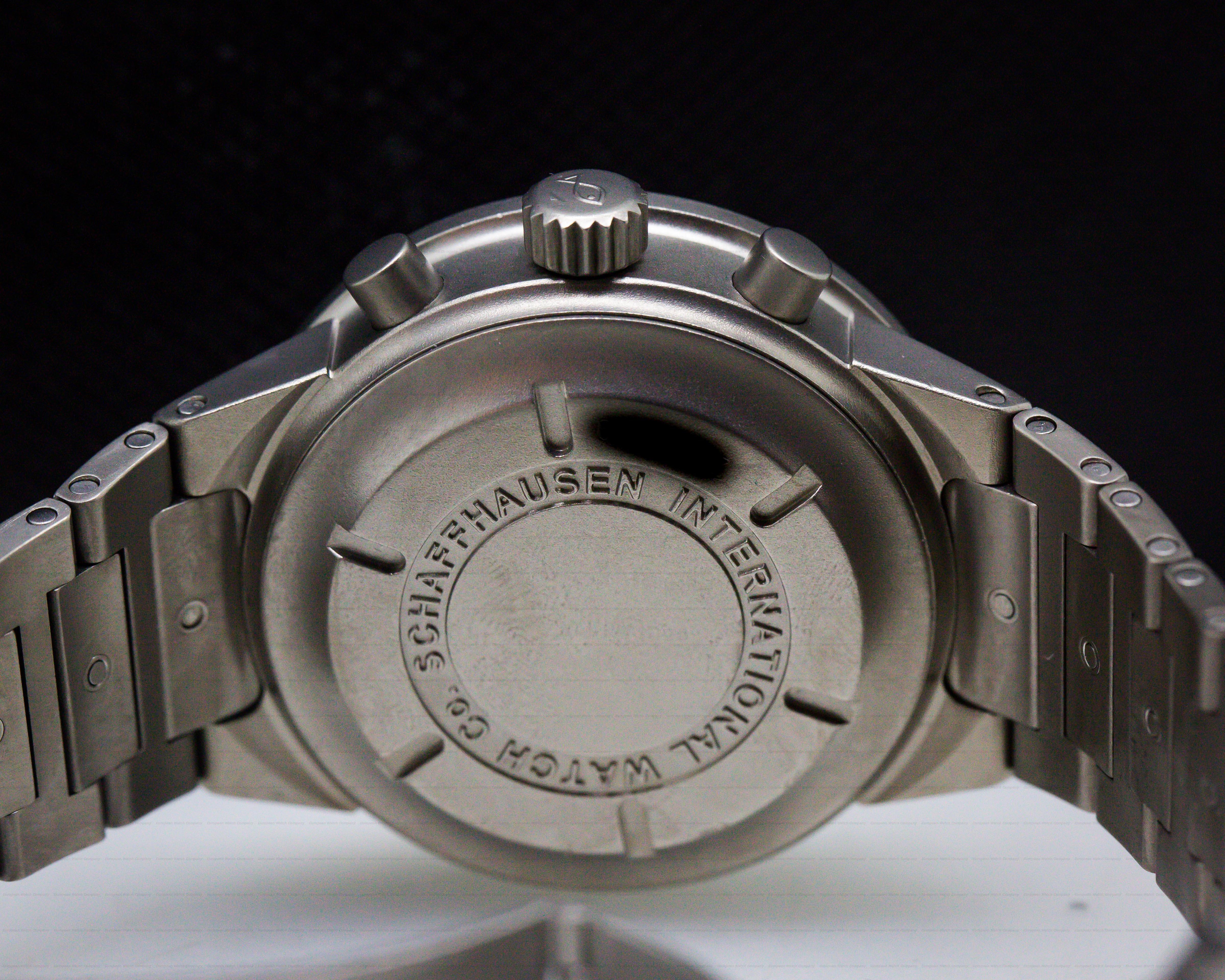 IWC 3707-08 GST Chronograph Black Dial Titanium