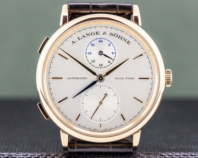 A. Lange and Sohne 385.032 Saxonia Dual Time 18K Rose Gold