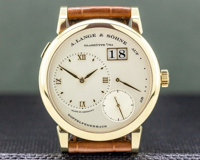 A. Lange and Sohne 101.021 Lange 1 Yellow Gold Champagne Dial