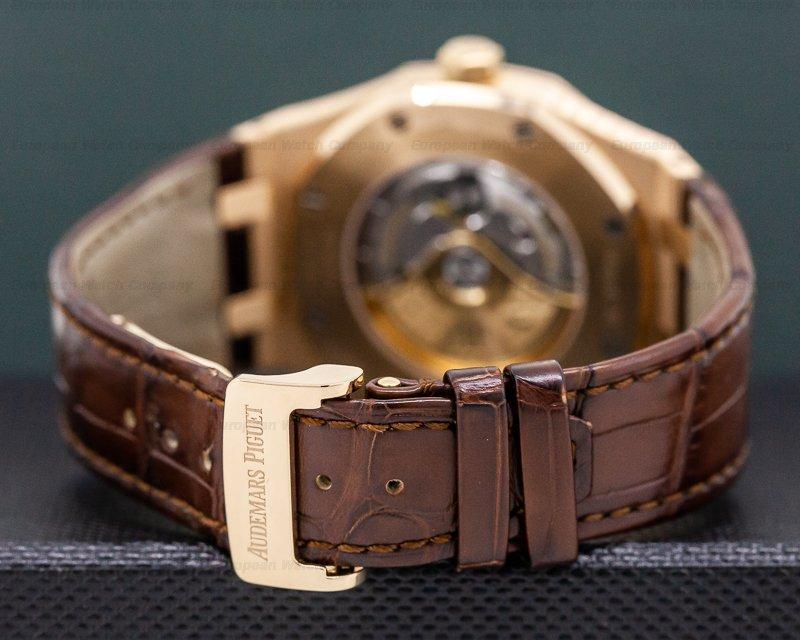 Audemars Piguet 15400OR.OO.D088CR.01 Royal Oak Automatic 18K Rose Gold / Brown Alligator