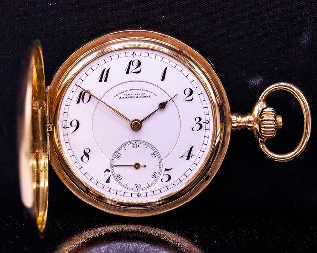 A. Lange and Sohne  A. Lange & Sohne 14K rose gold vintage pocket watch