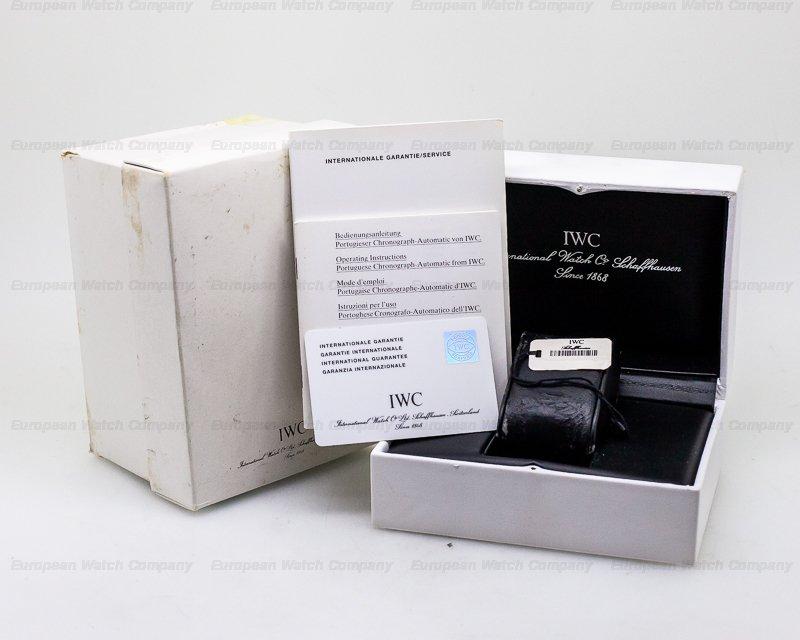 IWC IW371404 Portugieser Chronograph Black Panda Dial / SS