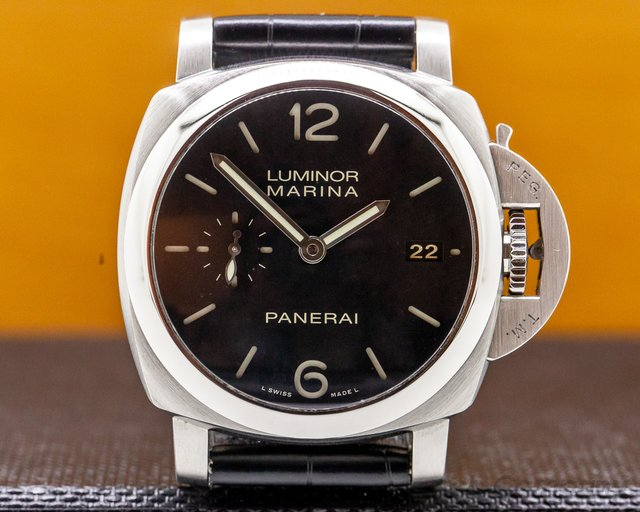 Panerai PAM392 Luminor Automatic SS Black Dial 42MM