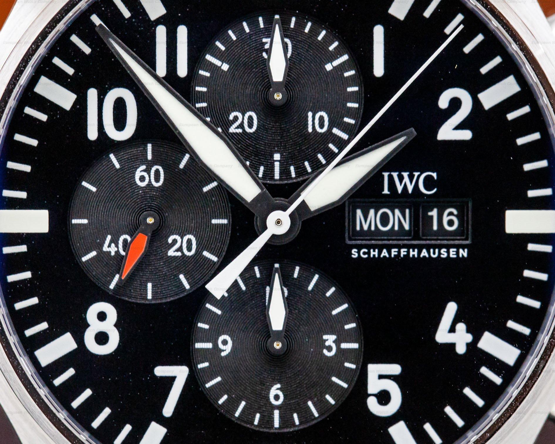 IWC IW377709 Flieger Pilot Chronograph SS
