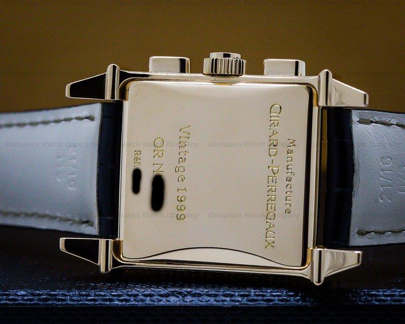 Girard Perregaux 25990.0.11.8186 Vintage 1945 Chronograph 18k Rose Gold Black Dial