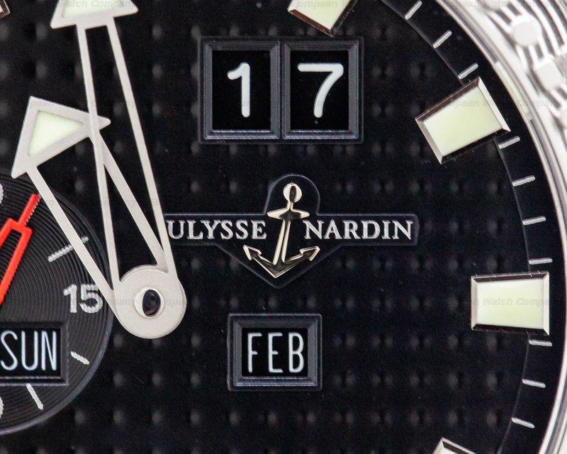 Ulysse Nardin 333-55-3/92 Marine Acqua Perpetual SS/SS Black Dial
