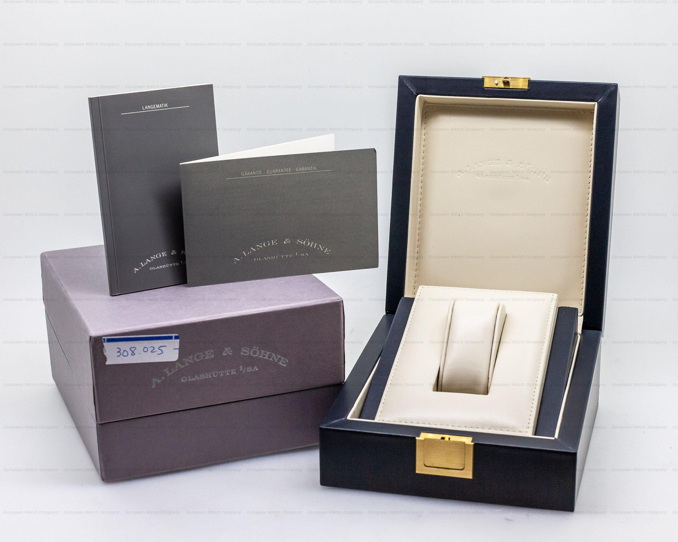 A. Lange and Sohne 308.025 Langematik Sax-O-Mat Big Date Automatic Platinum