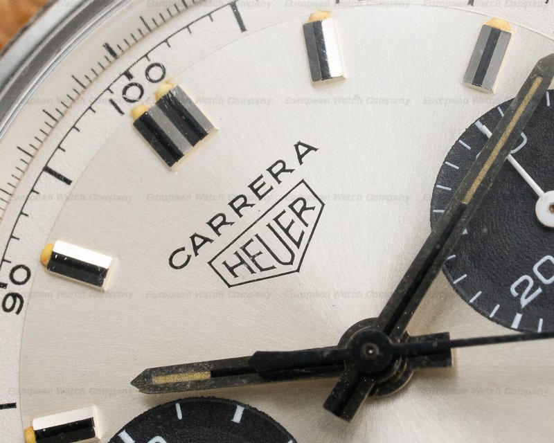 Heuer 7753SND Vintage Carrera 30 Silver PANDA Dial 7753SND Circa 1970s NICE