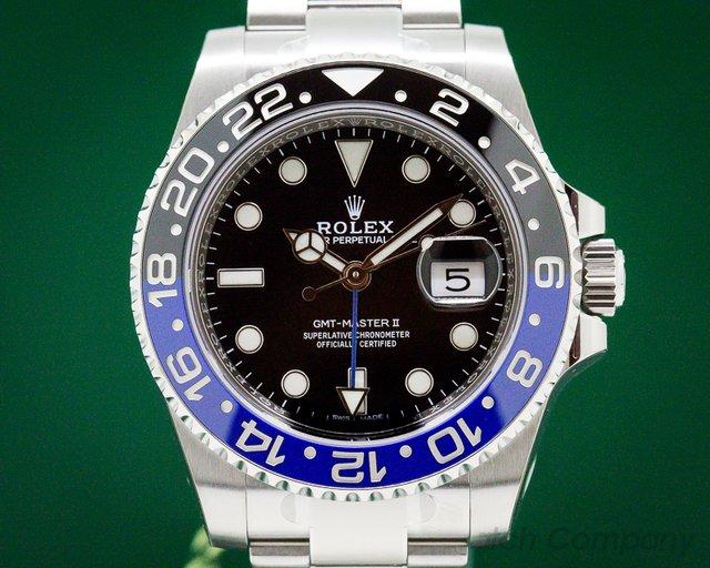 "Rolex 116710BLNR GMT Master II Ceramic Black & Blue ""Batman"" UNWORN TAGGED AND STICKERD"