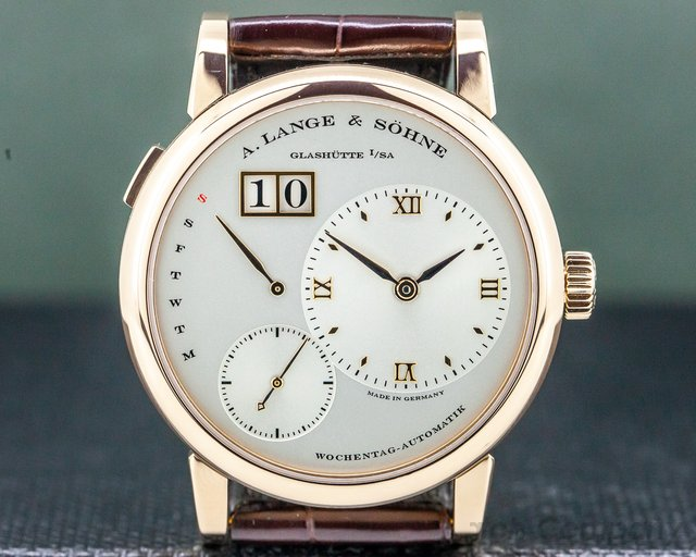 A. Lange and Sohne 320.032 Lange 1 Daymatic 18K Rose Gold / Deployant